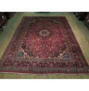 10x13 Authentic Hand Knotted Semi-antique Rug B-73849