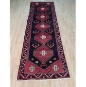 Old Fashion Rug 3x10 Cozy Hemedon Red Hand Knotted Semi-antique Runner B-71892