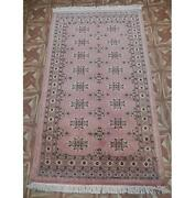 3x5 Soft Looking Hand Knotted Jaldar Bokhara Brown Rug B-78112