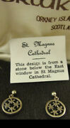 Vintage 9ct Gold Earrings St Magnus Malcolm Gray Ortak Rare Discontinued Boxed