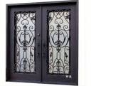 Create Beauty And Sophistication With A Wrought Iron Double Door