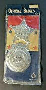 Vintage Official Badges Deputy Sheriff Toy Badge Dime Store Toys Nos