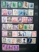 United States Of America Post Stamps Usa Figures Genuine Rare Collectible