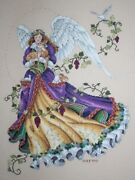 Innocent Guardian Angel By Dimensions Gold Collection Cross Stitch Completed