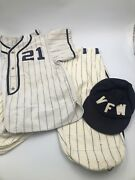 Vintage 1930and039s Vfw 3944 Overland Missouri Baseball Uniform - Wool - Bob Russell