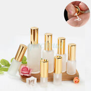 Wholesale 10ml-50ml Empty Frosted Glass Lotion Pump Bottle Cosmetic Containers