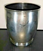 Good Federal Tk Emery Boston Raised Coin Silver Beaker Cup Unengraved 1800-1815