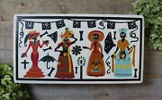 Day Of The Dead Skeletons Regional Costumes Lacquer Box Olinalá Mexican Folk Art