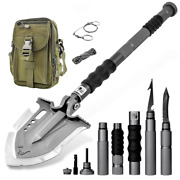 F-a3 Survival Shovel W/military Style Pouch   23 In 1   Premier Us Distributor