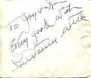 Lawrence Welk Tv Show Host Accordionist Bandleader Rare Signed Autograph
