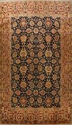 Floral Black Agra Oriental Area Rug Kork Wool Hand-knotted Palace Size 13x17 New