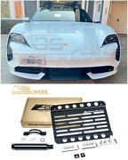 Eos Plate For 20-up Porsche Taycan | Front Bumper Tow Hook License Mount Bracket