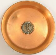 Vintage Rare Bates And Klinke Copper Dish Old Man Of The Mountains New Hampshire