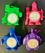 Vintage 4 Random Coin Bank Warrior Gumball Vending Machine Toys New Old Stock