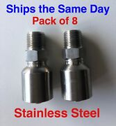 10143-6-6c Parker Aftermarket Stainless Hydraulic Hose Fittings 3/8 Mp 8 Pack