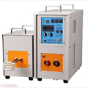25kw 30-80khz Dual Station High Frequency Induction Heater Furnace Zn-25ab Good