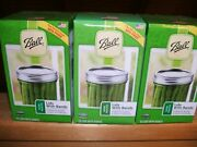 36 Ball Wide Mouth Lids And Rings Bands For Mason Jar Canning Lot 3 Boxes New