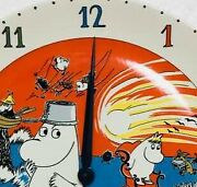 Finland Arabia Moomin Clock Plate Pottery Out Of Print Very Rare From Japan 0t