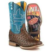 Menand039s Tin Haul Grill Master Boots With Bbq Sole Handcrafted Brown