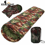 High Quality Cotton Camping Sleeping Bag 155degree Envelope Style Army Military