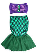 Stylesilove Little Girl Tube Top And Mermaid Dress 2pcs Costume Outfit, 2t-6