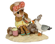Wee Forest Folk Seaside Suzy, Wff M-680, Pink Bow, Beach Mouse New 2020