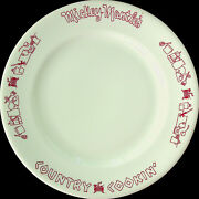 Shenango China - Mickey Mantleand039s Country Cookinand039 Plate - New Castle Pa - 1969