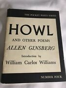 Howl By Allen Ginsberg 1958 6th Prtg With Original Text Vg