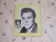 Framed Billy Fury Mounted Picture With Signed Autograpth To Tony 1980s