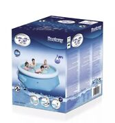 Bestway Blue 8and039 X 26 Fast Set Swimming Pool Indoor Or Outdoor Fits 6 - 8 Kids
