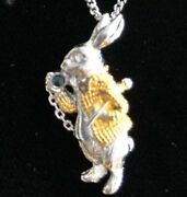 Alice In Wonderland Rabbit Necklace Pendant Gold Silver With Box From Japan 6d