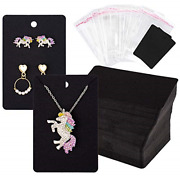 150 Pcs Necklace Earring Display Card With 200 Self-seal Bags Holder Cards Tags