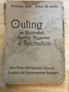 Outing Magazine October 1887 Includes Great Vintage Ads