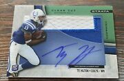T.y. Ty Hilton Rookie Rc Auto Autograph /55 2012 Strata Clear Cut Game Jersey