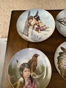 Artaffects Proud Young Spirits By Perillo Indian Collector Plates Complete Set
