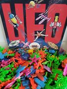 Vintage 12 Ufo Space Ships And Flying Saucer Vending Machine Toy Prizes Nos