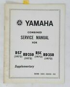 1970s Yamaha Rd 250 350 Ds7 R5 Supplementary Combined Service Manual Oem Booklet