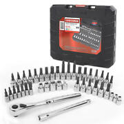 Craftsman 42 Piece 1/4 And 3/8 Inch Drive Bit And Torx Bit Socket Wrench Tool Set