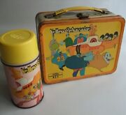 Vintage 1968 Thermos Beatles Yellow Submarine Lunch Box And Water Bottle