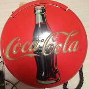 Coca-cola Telephone Push-button Type With Ac Adapter 1990s Vintage From Japan