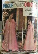 60s Vogue Paris Original Pattern Christian Dior Coat And Dress In Two Lengths, 36