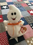 Rare Hard To Find Retired Ty Beanie Baby Spooky Ghost Double Tag 1995 Style 4090