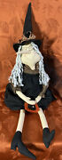 Primitive Cloth - Witch - Shelf Sitter -19 Sitting - 33 Including Legs