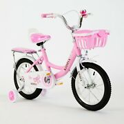 Tyneeandtrade Childrenand039s Girls Bike Bicycle With Removable Stabilisers 12 14 16 Inch Uk