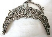 Antique Silver 195 Grms.purse Frame Dancing Cherubs-playing Musical Instruments.