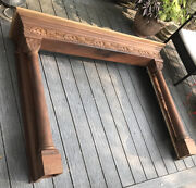 Antique Fireplace Mantel Fire Place Wood Shelf Living Room-pick Up Only