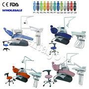Dental Chair Unit Computer Controlled Exam Dc Motor Chair Hard Leather 13colors