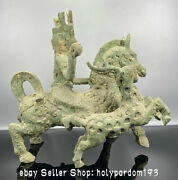 13.2 Rare Ancient Chinese Bronze Ware Dynasty Human Herd Deer Horse Statue