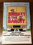 Burt Reynolds Signed Smokey And The Bandit Poster 60x90cm Cert+val+phproof