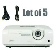 Lot Of 5 - Mitsubishi Xd250u Dlp Projector W/power Cords And Hdmi Cables